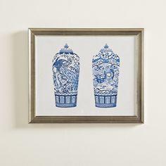 Birch Lane Porcelain Vase Duo Framed Painting Print | Birch Lane