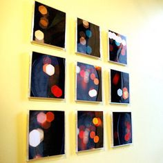 Use old CD cases and insert your own pictures to make your own work of art.   29 Impossibly Creative Ways To Completely Transform Your Walls