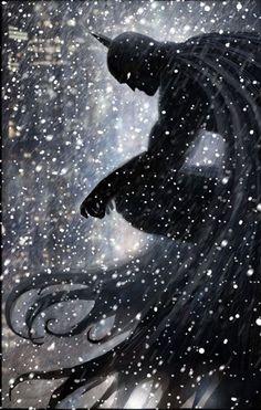 Batman in the winter snow