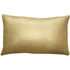 Tuscany Linen Throw Pillow, Gold, Throw Pillows, by Pillow Decor Ltd.