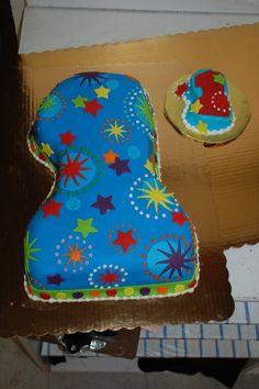 1st birthday cake with smash cake