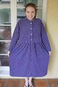 Another great site for thrift store clothing make overs, this blog is called New Dress A Day.  She spent $1 a day on dresses and altered them into cute designs. There are before and after pics.