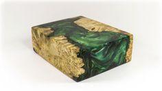 Hybrid-Wood-Acrylic-Block-Emerald-Green-Shimmer