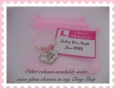 Wine Glass Charms - cool gift idea for the hens