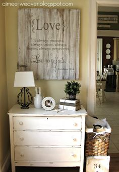 I Corinthians 13: 7-8--site has great ideas for signs and a tutorial for making them!