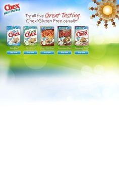 Rice Chex, Corn Chex, Honey Nut Chex, Chocolate Chex, Cinnamon Chex
