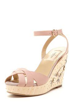 Valentino Floral Wedge Sandal