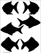 Printable pattern for fish shadow puppets