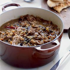 Iraqi lamb And eggplant stew with pita from 100 Best Recipes Ever: Stews & One Pot Dishes | Food & Wine