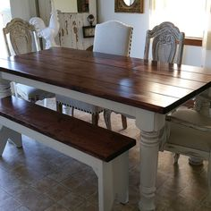 Farmhouse Dining Table With Bench By WoodWorkingByJerrod On Etsy