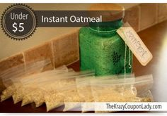 Make Your Own Instant Oatmeal Packets!