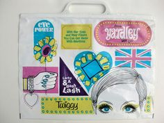 Vintage 1967 Yardley of London Twiggy Shopping Bag