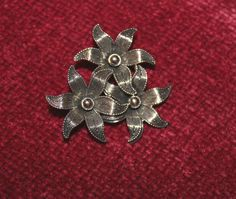 Vintage Signed Beau Solid Sterling Silver Flower by FairyFresh, $40.00