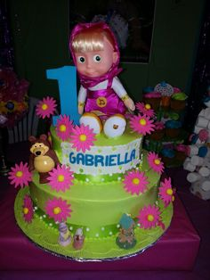 Masha and the bear cake. 2nd Birthday Parties, Birthday Cakes, Birthday Ideas, Masha And The Bear, Bear Party, Bear Cakes, Maya, Desserts, Food