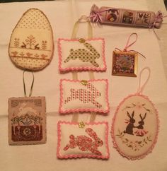 Some of my Easter stitched pieces