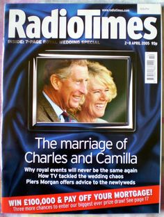 Radio Times 2-8 April 2005 Prince Charles & Camilla cover Royal Wedding magazine |