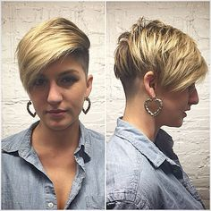 Haircut, headshave and bald fetish blog   for people who are bald fetish, haircut fetish fan or who want to see extreme hairstyles, bald beauty girls, shorn napes and short cuts for women. But please DO NOT disturb the girls only watch them!   Page 2