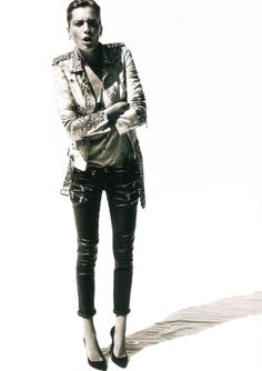 What an outfit… I love the pants!!! stylishhtrends:  Balmain - S/S 2011