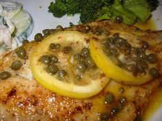 Flounder With A Lemon, Butter, Caper, & White Wine Sauce Recipe This salt baked fish recipe is fish crusted in salt and slid in the oven and baked until moist and tender and perfect. Sauce Recipes, Seafood Recipes, Wine Recipes, Cooking Recipes, Vegetarian Cooking, Fish Dinner, Seafood Dinner, Lemon Butter Caper Sauce, Lemon White Wine Sauce