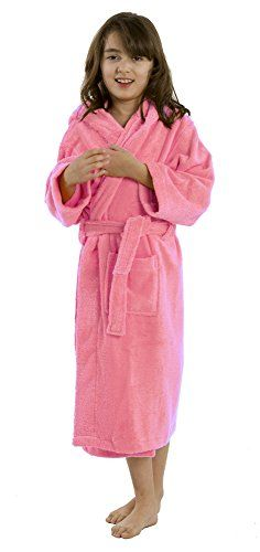 844c33bb979 Amazon.com  Hooded Terry robe for boys and Girls APPLE GREEN