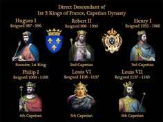 987-1180 Kings of France Capetian dynasty