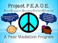 Project P.E.A.C.E. BUNDLE is designed to provide you with everything needed to start a Peer Mediation Program. The one thing that it does not provide is the curriculum to train the peer mediators.I began my first peer mediation program 18 years ago. This packet includes all the forms I have developed over the years from the application to become a peer mediator to the script and follow-up evaluations. Also included is a Power Point to introduce Peer Mediation to your school!