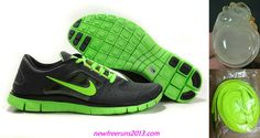 Nike Free Run 3.0 Mens Sequoia Electric Green Shoes