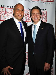 Mayor Cory Booker, Governor Andrew Cuomo during the Help USA Tribute Awards Dinner, Honoring President Bill Clinton, Governor Mario Cuomo and Matilda Cuomo, held at the Waldorf Astoria in New York City, Tuesday, June 5, 2012.