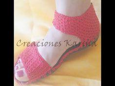 sandalia tejida a crochet, 2da parte ( paso a paso, bien explicado) - YouTube