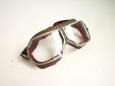Goggles Pilot Aviator Motorcycle 70s Glasses Deadstock. €65.00, via Etsy.