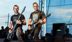 Mark Tremonti and Brian Marshall of ALter Bridge at WJRRs Earthday Birthday 24 / © Lizzy Davis Photography Sublime With Rome, Kevin Martin, Painting Station, Mark Tremonti, Alter Bridge, Myles Kennedy, Cool Writing, Rock Concert, Bands