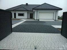 pl wpis: kostka położona:)))))) - All For Garden Resin Driveway, Driveway Paving, Driveway Design, Modern House Design, Architectural Design House Plans, Burbank Homes, Side Yard Landscaping, Landscaping Ideas, My House Plans