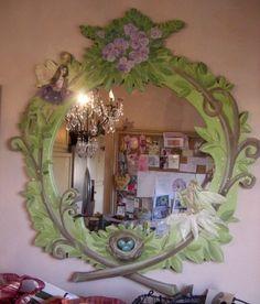 Detail of fairy bedroom mural home pinterest fairy for Fairy mural ideas