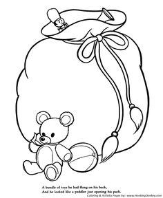 Night Before Christmas Coloring Pages Happy To All And A Good