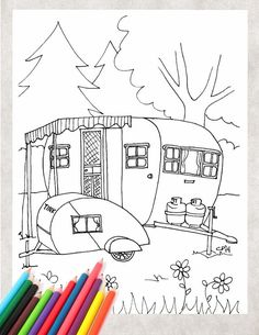 coloring pages for the kids Printable Coloring Pages, Colouring Pages, Adult Coloring Pages, Coloring Books, Camping Coloring Pages, Hand Embroidery, Embroidery Stitches, Embroidery Ideas, Applique Patterns
