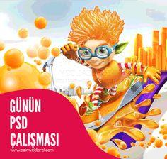 Günün PSD Çalışması Ücretsiz İndir | Cizimvektorel.com