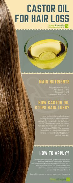 Castor Oil is one of the best home remedies for hair loss. Its regular use will regrow your lost hair and stop further loss. : Castor Oil is one of the best home remedies for hair loss. Its regular use will regrow your lost hair and stop further loss. Hair Remedies For Growth, Home Remedies For Hair, Hair Loss Remedies, Remedies For Thinning Hair, Hair Fall Remedy Home, Hair Thickening Remedies, Pelo Natural, Natural Hair Care, Natural Hair Styles