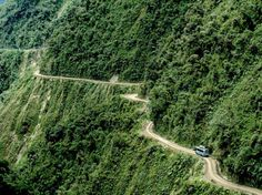 """NORTH YUNGAS ROAD Bolivia    Risk Factor: This route's nickname really says it all — sometimes, it's simply called """"Death Road."""" And, with no guardrails along the 12-foot-wide roadway protecting drivers from a 2,000-foot plunge off a cliff, it's easy to see why. (To make matters more confusing, drivers drive on the left to better see the cliff's edge.) """"Death Road"""" isn't just a nickname, either: It's estimated that the highway is a site of 200 to 300 deaths per year."""