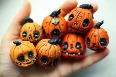 Want to discover art related to halloween? Check out inspiring examples of halloween artwork on DeviantArt, and get inspired by our community of talented artists. Polymer Clay Halloween, Polymer Clay Projects, Polymer Clay Charms, Polymer Clay Creations, Polymer Clay Art, Clay Crafts, Halloween Pumpkins, Halloween Crafts, Clay Clay