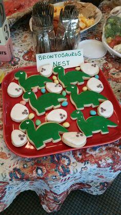 Dinosaur birthday party. Sugar cookies. #dinosaurcookie #dinosaurbirthday #dinosaurparty