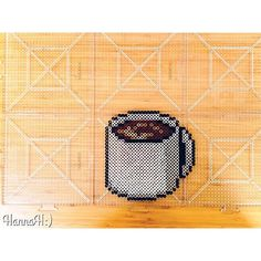 Coffee cup perler beads by  hannah