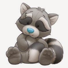 Guaxinim-Roger the resourceful Raccoon loves to help out friends and can find a fix for anything. Tatty Teddy, Cute Images, Cute Pictures, Animal Drawings, Cute Drawings, Baby Animals, Cute Animals, Blue Nose Friends, Belly Painting