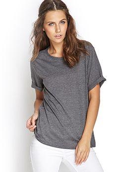 Camiseta Jaspeada Cuello Redondo   Forever 21 - 2056020285