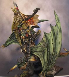 Orc Warlord riding Wyvern  for Orcs & Goblins @ Warhammer Fantasy Battles