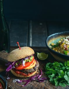Mexican Beef Burgers with Smoked Paprika Mayo