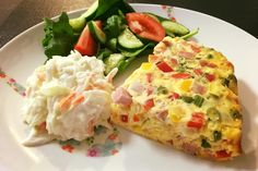 Ham and Cheese Vegetable Frittata