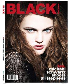 BLK #10 Cover 1. Photo: MIchael Schwartz. Fashion editor: Yo Guo. Hair: Erin Anderson. Make-up: Valery Gherman. Model: Ali Stephens at Elite New York