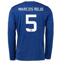 Manchester United 16-17 #Marcos Rojo 5 Udebanesæt Lange ærmer,245,14KR,shirtshopservice@gmail.com