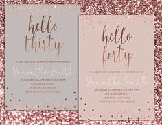 30th birthday cake ideas 30th birthday invitation modern gold foil hello 30 by 1105