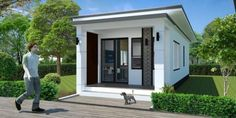 Small house design – dekorationcity.com 2 Bedroom House Design, Small House Design, Woven Shades, Drop Cloth Curtains, Patio Chairs, Cabana, Shed, Stairs, Outdoor Structures
